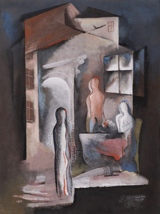 Béla Kadar, Three Figures by a Table, c. 1936-38