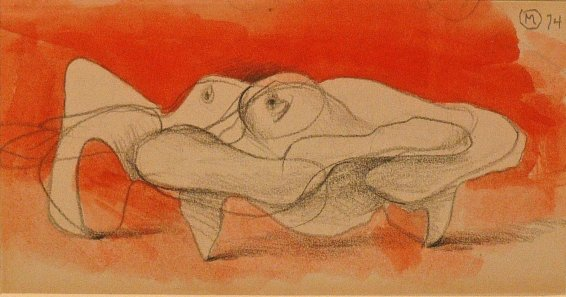 Bernard Meadows, Drawings for Sculpture: Crab Theme 1, 1974