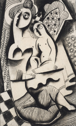Béla Kadar, Mother and Child, c. 1923-24