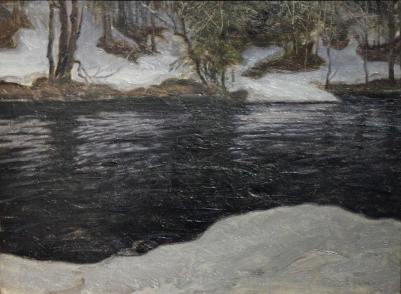 Erik Hedberg, Melting Snow, c.1902