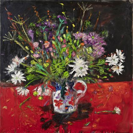 Shani Rhys James, Flowers in a Gaudy Jug, 2021