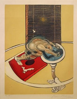 Francis Bacon, Figure at a wash-basin, 1976