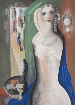 Béla Kadar, Standing Nude with Fruit Bowl, c. 1934  SOLD