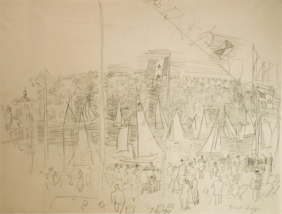 Raoul Dufy, Régates à l'embouchure du port de Honfleur, c.1930