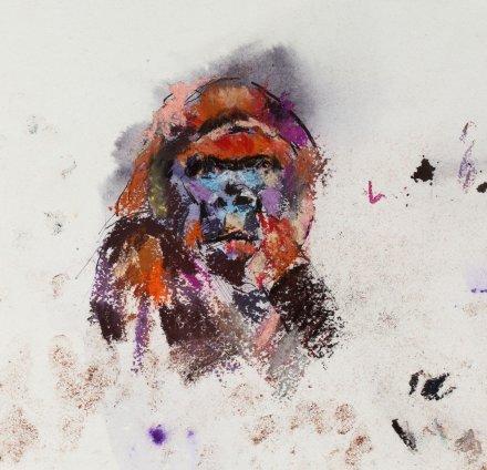 Paul Richards, Study for Gorilla Head, 2010