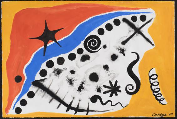 Alexander Calder, Dots along the Blue, 1963