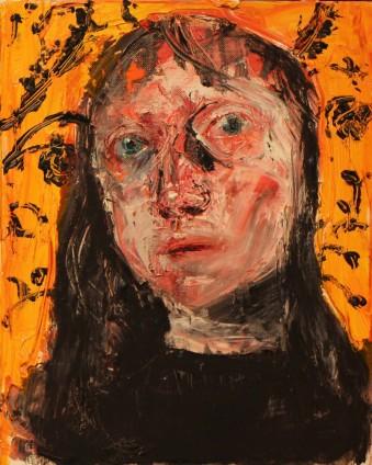 Shani Rhys James, Indian Yellow Flock, Black Top, 2009