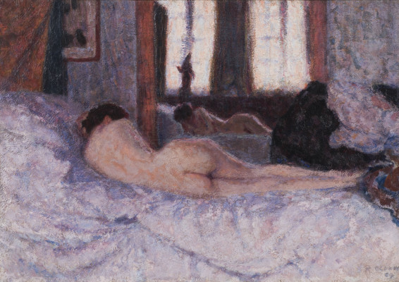 Roderic O'Conor, Reclining Nude before a Mirror II, 1909