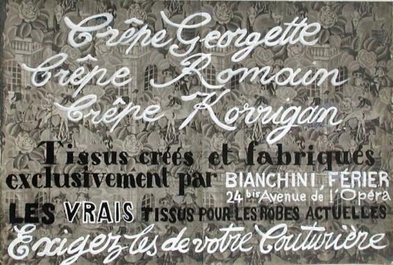 Raoul Dufy, Crêpe Georgette, Crêpe Romain, Crêpe Korrigan