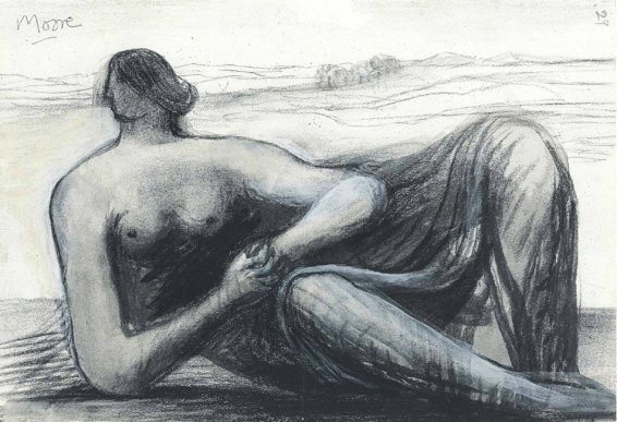 Henry Moore, Draped Reclining Figure in a Landscape, c. 1973/77