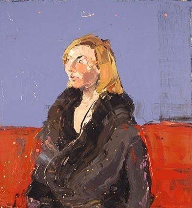 Paul Richards, Portrait of Jac in winter coat, 2003