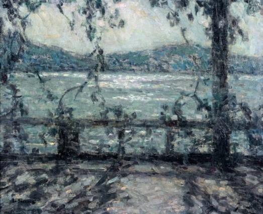 Henri Le Sidaner, Terrasse au clair de lune, Villefranche-sur-mer, c.1927-29