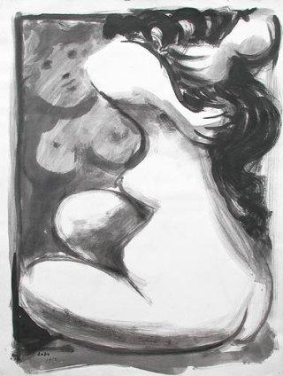 Baltasar Lobo, Nu devant un miroir, 1950