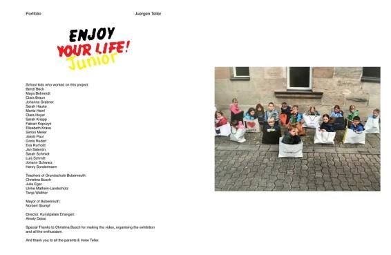 Juergen Teller  POP magazine, Issue 37 Autumn/Winter 2017, Enjoy Your Life!, 2017  Giclee print  30.5 x 45.7 cm, 12 x 18 ins