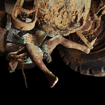Matthew Barney DE LAMA LÂMINA: A Raiz da Lâmina, 2004 C-print in self-lubricating plastic and Brazilian Rosewood frame 110.5 x 111.1 x 5.4 cm, 43 1/2 x 43 3/4 x 2 1/8 ins