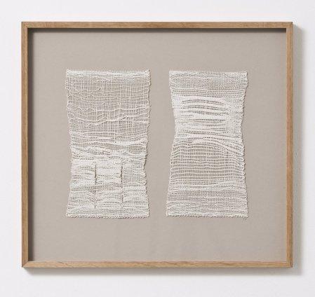 Sheila Hicks Monsieur et Madame, 2013 Linen 24 x 13 cm / 5 1/8 x 9 1/2 ins (each)