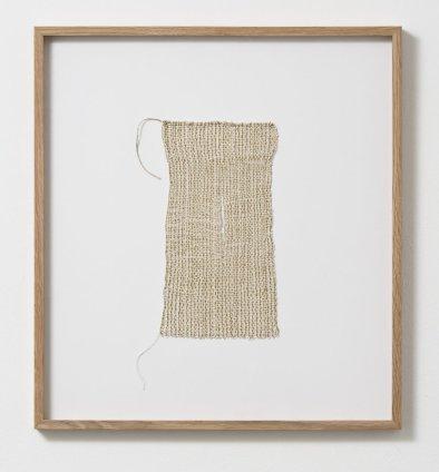 Sheila Hicks Buttonhole, 2011 Linen, metallic fibre 24.5 x 13.5 cm / 9 5/8 x 5 1/4 ins