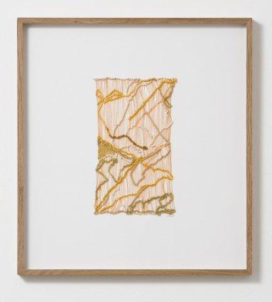 Sheila Hicks Wed to Singular Paths, 2013 Cotton, linen, silk, metallic fibre 24.5 x 14.5 cm / 9 5/8 x 5 3/4 ins