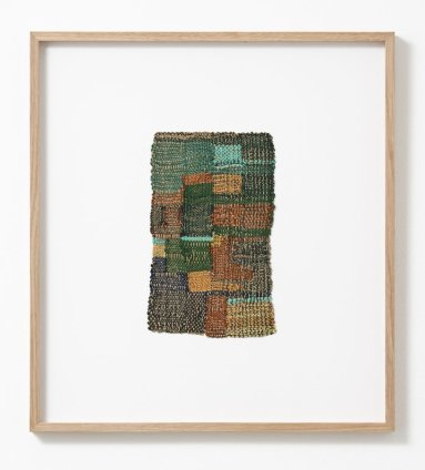 Sheila Hicks Cluny, 2010 Cotton, wool, steel fibre 23.5 x 14 cm / 9 1/4 x 5 1/2 ins