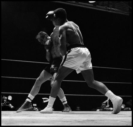 Gordon Parks, Muhammad Ali Fights Henry Cooper in Highbury, London, 1966. © The Gordon Parks Foundation