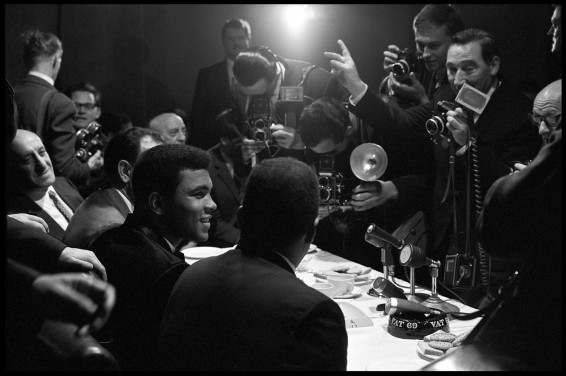 Gordon Parks, Muhammad Ali Interviewed by Reporters, London, England, 1966. © The Gordon Parks Foundation