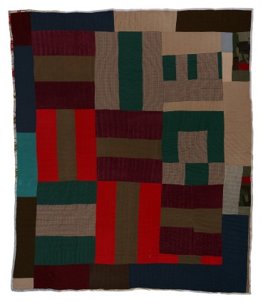 Mary Lee Bendolph, 'Basket Weave' variation, c. 1990. Cotton, polyester, corduroy. 213.4 x 190.5 cm, 84 x 75 ins. © Mary Lee Bendolph / Artists Rights Society (ARS), New York and DACS, London