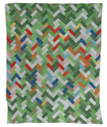 Candis Pettway, Coat of Many Colors (quilting bee name), 1970. Cotton and cotton/polyester blend. 200.7 x 170.2 cm, 79 x 67 ins. © Candis Pettway
