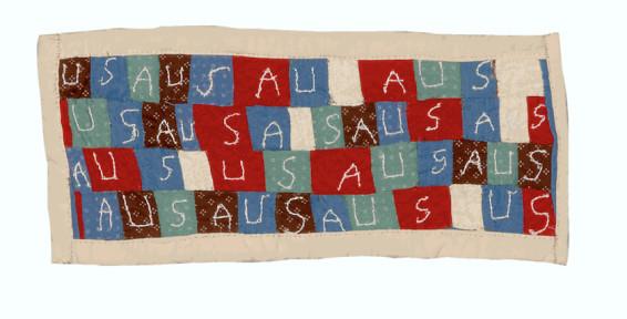 Mary Leathea Pettway, My Flag, 2020. Cotton. 21 x 44.5 cm, 8 1/4 x 17 1/2 ins. © Mary Leathea Pettway