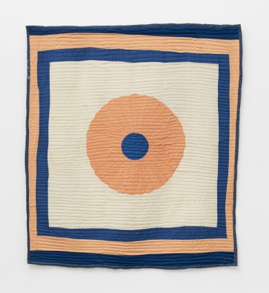 Stella Mae Pettway, Big Wheel, 1986. Double knit, cotton and polyester. 218.4 x 193 cm, 86 x 76 ins. © Stella Mae Pettway / Artists Rights Society (ARS), New York and DACS, London