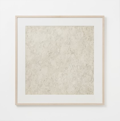 Moon, 1969 Pencil on paper 61 x 61 cm, 24 x 24 ins 74.3 x 74.9 cm, 29 1/4 x 29 1/2 ins, framed © Michelle Stuart