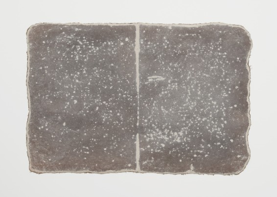 Small Ledger: Near White Horse of Uffington, 1979-80 earth from site on muslin-mounted paper Rock marks, Sayreville earth, muslin-mounted rag paper 29.5 x 44.5 cm, 11 5/8 x 17 1/2 ins © Michelle Stuart