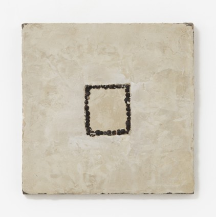 Frame, 1998 Seeds, beeswax, pigment on canvas 30.5 x 30.5 cm, 12 x 12 ins © Michelle Stuart