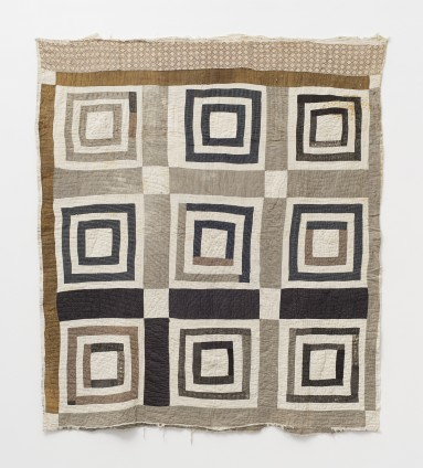 Annie E. Pettway, 'Housetop' - nine-block variation, c. 1930s. Cotton. 195.6 x 180.3 cm, 77 x 71 ins. © Annie E. Pettway / Artists Rights Society (ARS), New York and DACS, London