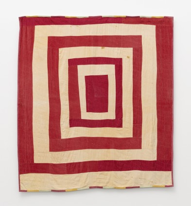 Qunnie Pettway, Housetop, c. 1975. Corduroy. 208.3 x 188 cm, 82 x 74 ins. © Qunnie Pettway / Artists Rights Society (ARS), New York and DACS, London