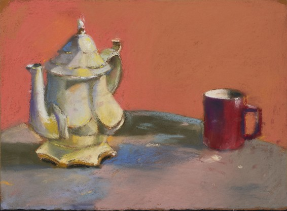 Paul Richards, Studio Teapot and Cup, 2019  SOLD