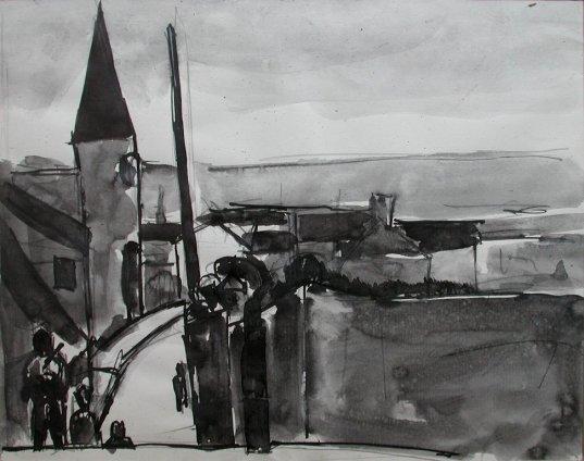 Josef Herman, On the road, 1972