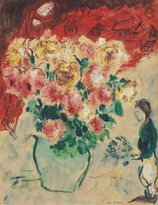Marc Chagall, Roses Rouges, 1954