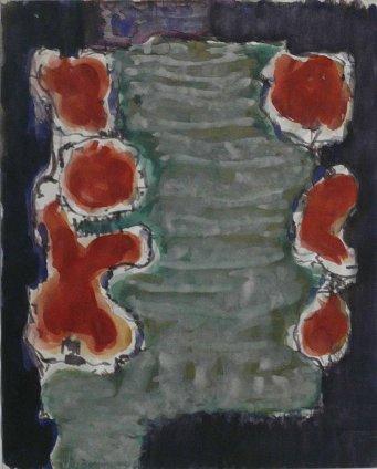 Jacob Bornfriend, Abstract composition, 1960