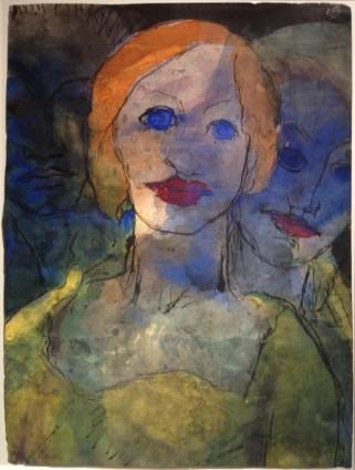 Emil Nolde, Phantasie (Drei Köpfe), 1931-1935