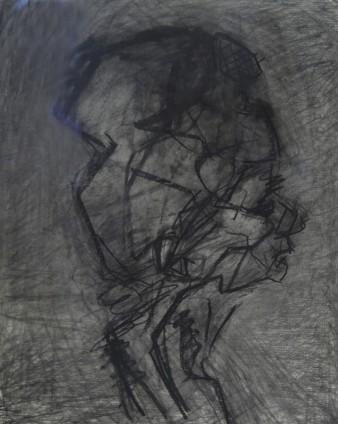 Frank Auerbach, Head of Julia, profile, 1989