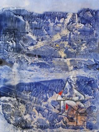 Max Ernst, Étude pour un Cavalier Polonais, 1954