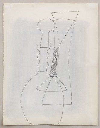 Ben Nicholson, Untitled (Stoppered Vase and Goblet), 1972