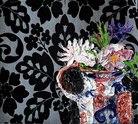 Shani Rhys James, Gaudy Jug and Flowers, 2011