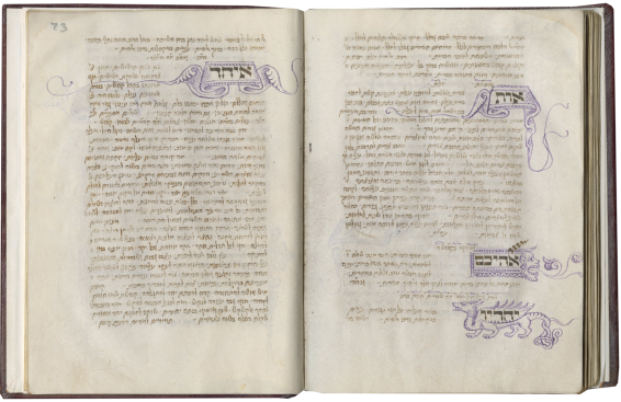 The Veneto Siddur and Sefer Minhagim of Joel ben Simeon (Ashkenazic rite, use of Ulm) , dated 1449-50, decoration added c. 1470