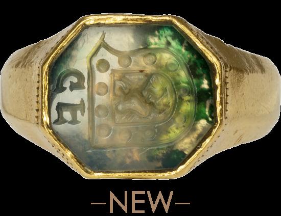 Renaissance Signet Ring of the van den Bergh Family of s'Heerenberg , The Netherlands, 1500-1550