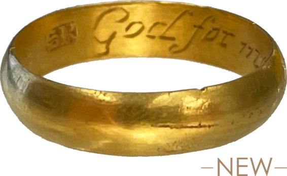 "Posy Ring ""God for me appointed thee"" , England, 1700-1750"