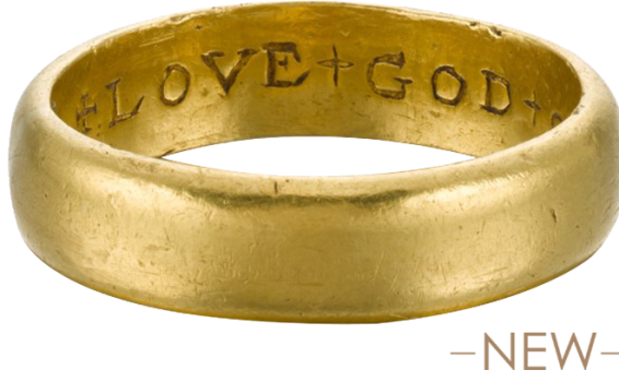 "Posy Ring ""Love God Onle weth Fathe"" , England, 17th century"