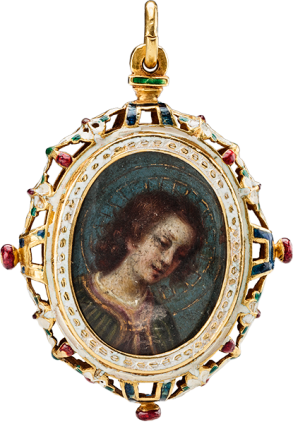 Pendant with The Annunciation miniatures by Valerio Marucelli (1563-1626) , c. 1620