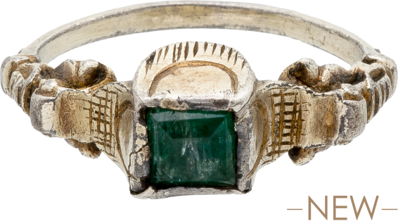 Renaissance-Style Ring with Emerald , Probably Southern Germany, late 18th-19th century