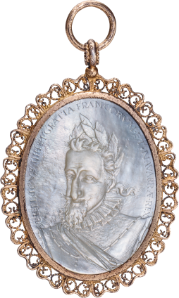 Pendant with Cameo of King Henry IV of France , late 16th century; mount: probably 18th century